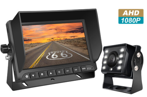 Professioneel 7 inch HD Achteruitrijcamera-systeem met kleuren-nachtzicht